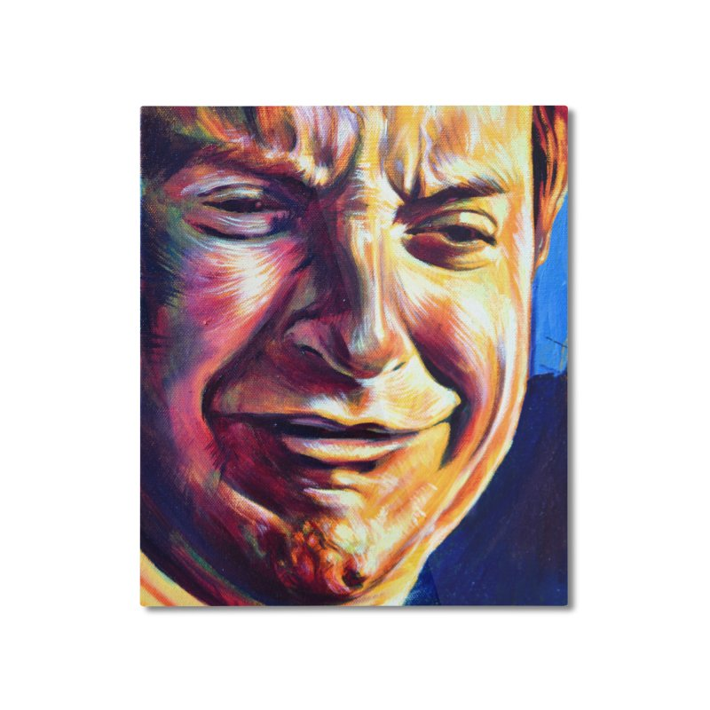 sad tobey Home Mounted Aluminum Print by paintings by Seamus Wray