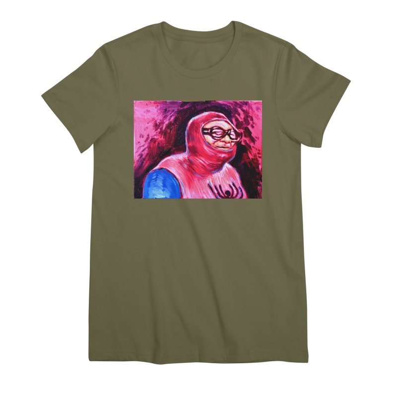 spider-man Women's Premium T-Shirt by paintings by Seamus Wray