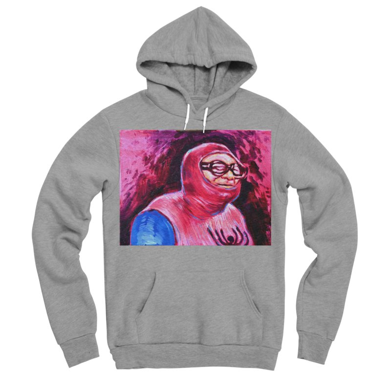 spider-man Women's Sponge Fleece Pullover Hoody by paintings by Seamus Wray