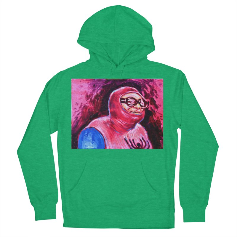 spider-man Men's French Terry Pullover Hoody by paintings by Seamus Wray