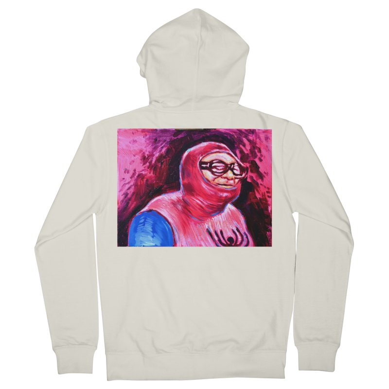spider-man Men's French Terry Zip-Up Hoody by paintings by Seamus Wray