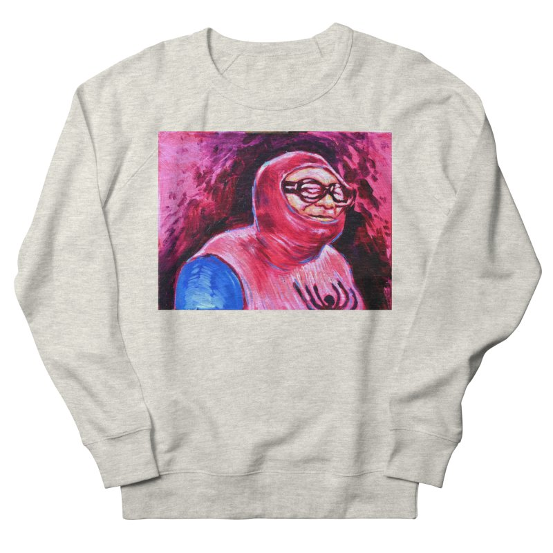 spider-man Men's French Terry Sweatshirt by paintings by Seamus Wray