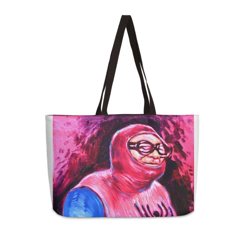 spider-man Accessories Weekender Bag Bag by paintings by Seamus Wray