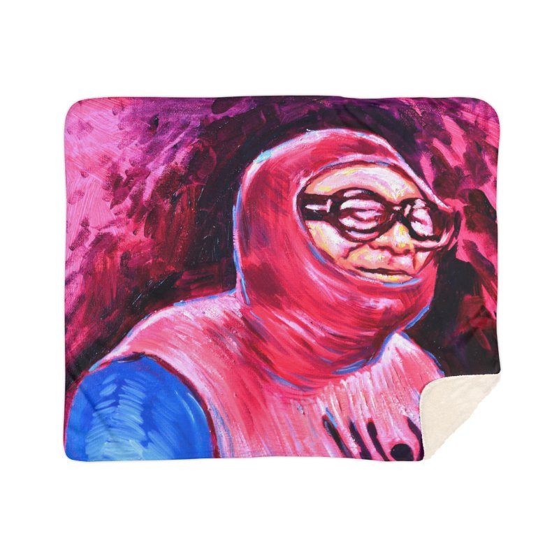 spider-man Home Sherpa Blanket Blanket by paintings by Seamus Wray