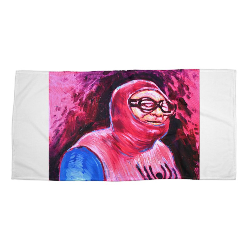 spider-man Accessories Beach Towel by paintings by Seamus Wray