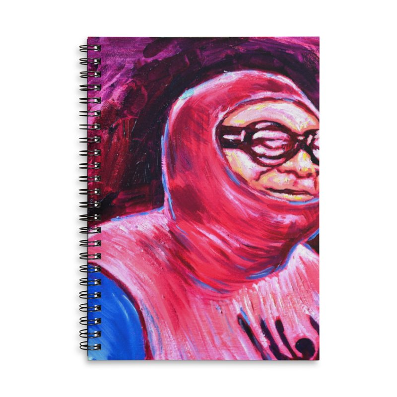 spider-man Accessories Lined Spiral Notebook by paintings by Seamus Wray