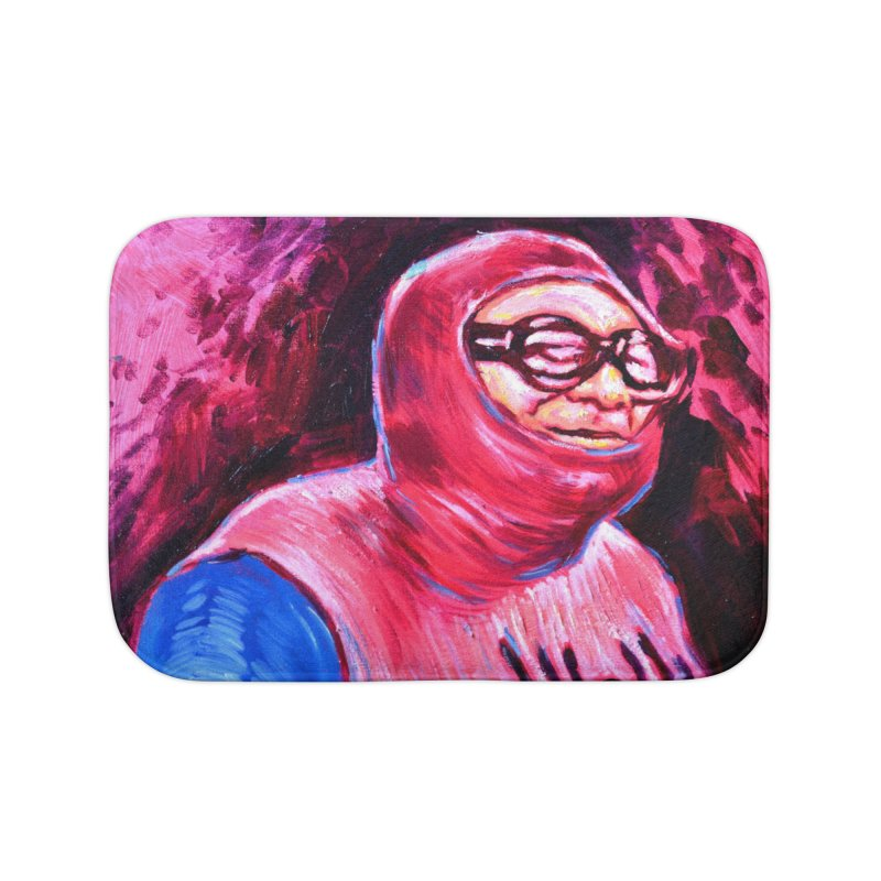 spider-man Home Bath Mat by paintings by Seamus Wray