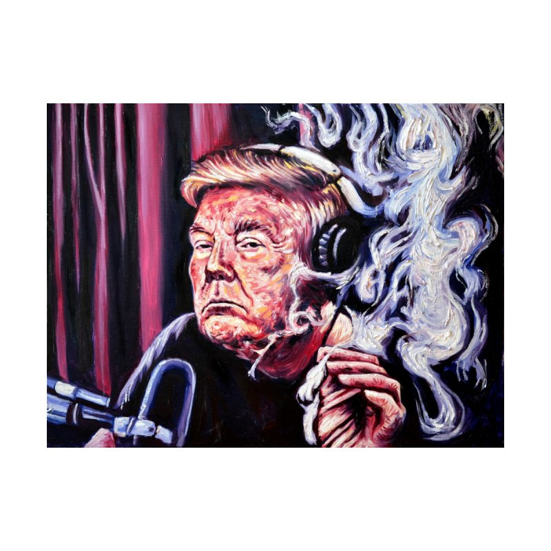smoking donald Men's Sweatshirt by paintings by Seamus Wray