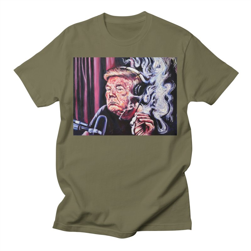 """smoking donald Men's T-Shirt by Art Prints by Seamus Wray available under """"Home"""""""