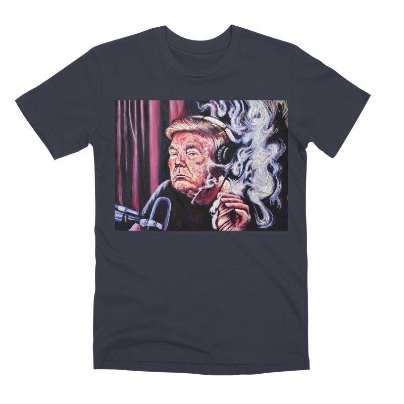 smoking donald Men's Premium T-Shirt by paintings by Seamus Wray
