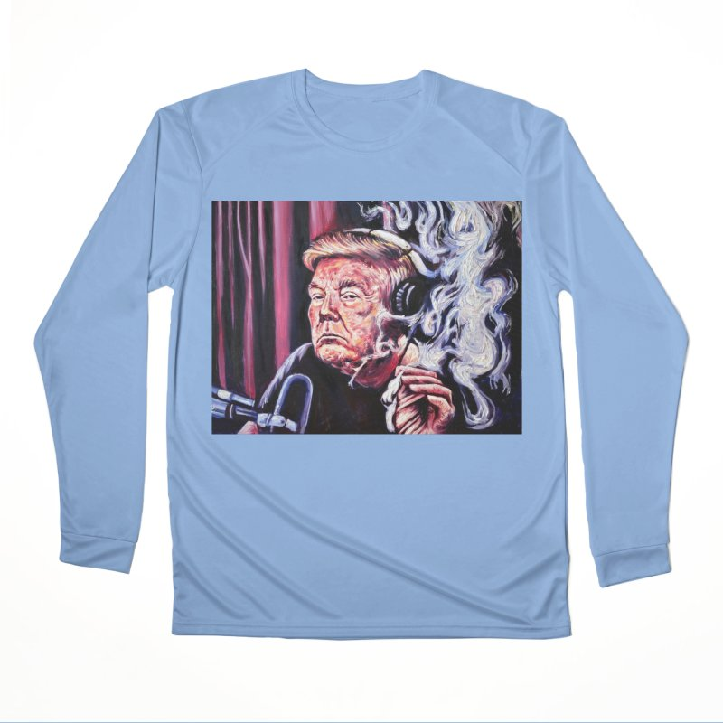 smoking donald Women's Performance Unisex Longsleeve T-Shirt by paintings by Seamus Wray