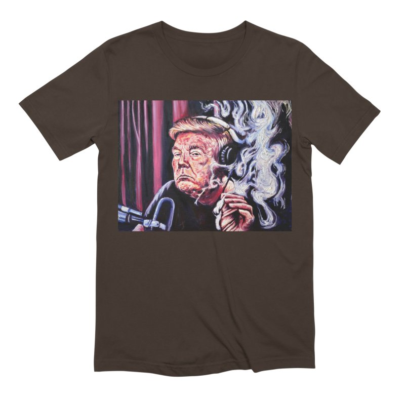 smoking donald Men's Extra Soft T-Shirt by paintings by Seamus Wray