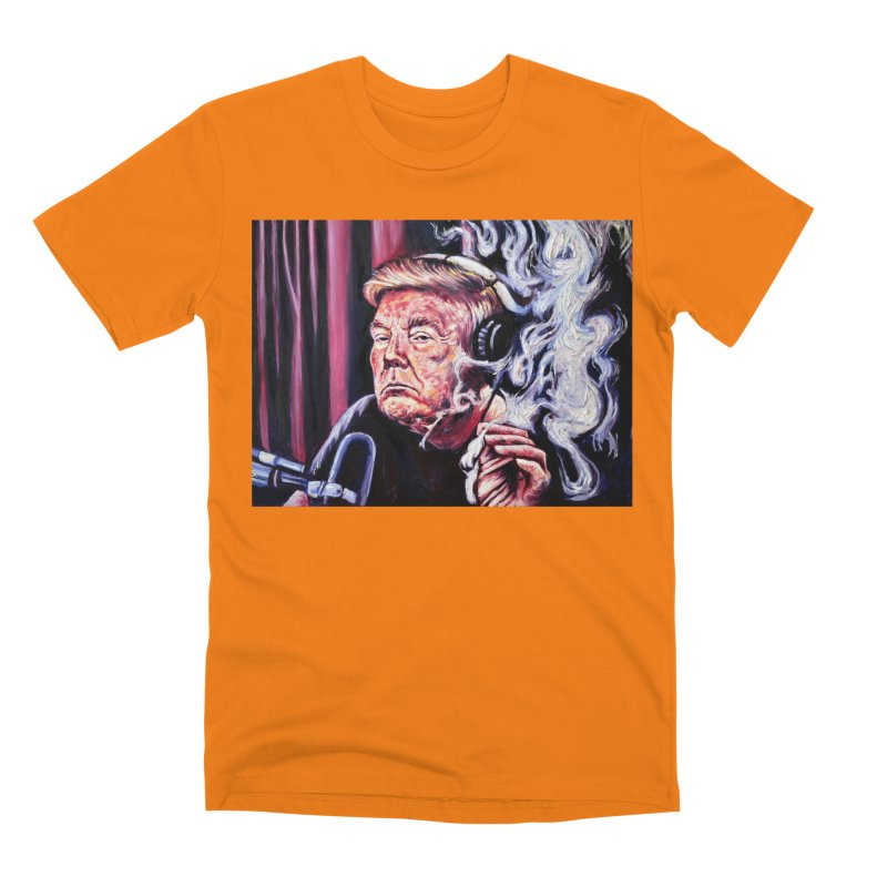 smoking donald Men's T-Shirt by paintings by Seamus Wray