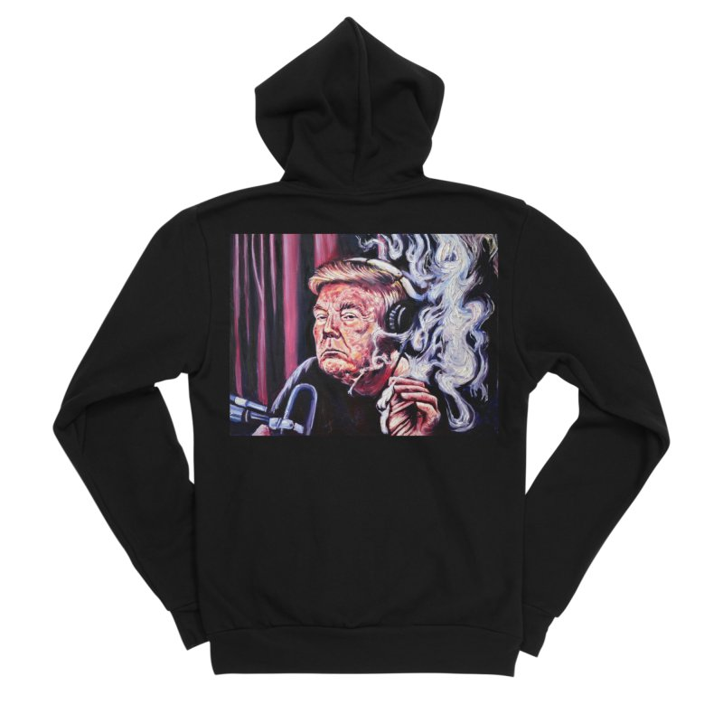 smoking donald Women's Sponge Fleece Zip-Up Hoody by paintings by Seamus Wray
