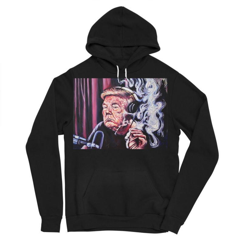 smoking donald Men's Sponge Fleece Pullover Hoody by paintings by Seamus Wray