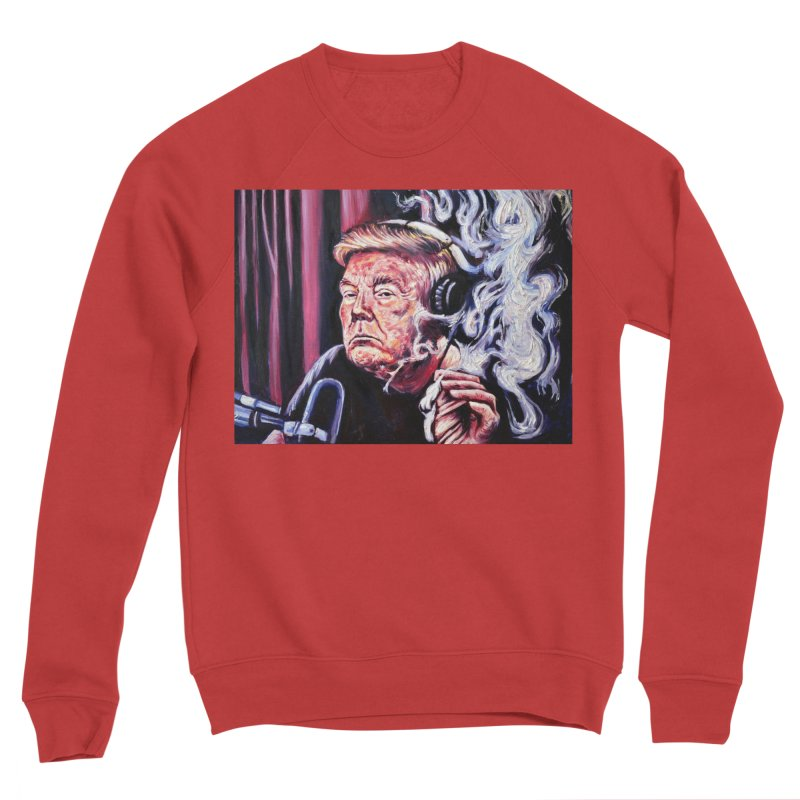 smoking donald Women's Sponge Fleece Sweatshirt by paintings by Seamus Wray