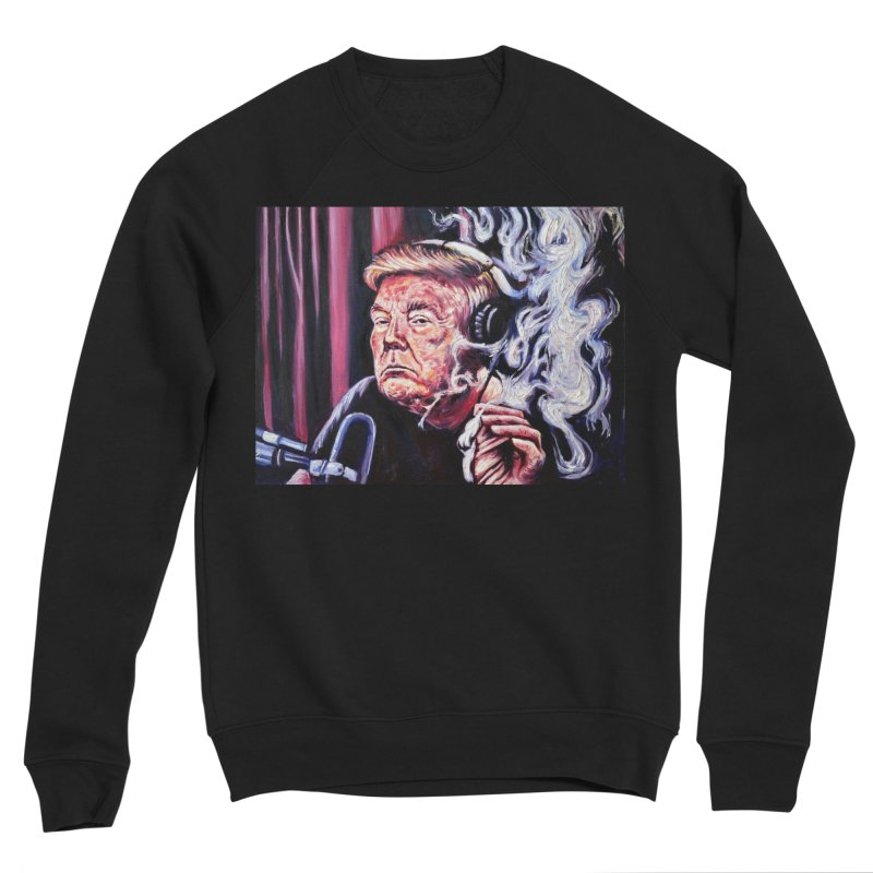 smoking donald Men's Sponge Fleece Sweatshirt by paintings by Seamus Wray