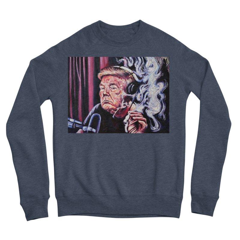 smoking donald Women's Sponge Fleece Sweatshirt by paintings by Seamus Wray