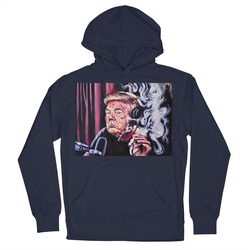 smoking donald Women's French Terry Pullover Hoody by paintings by Seamus Wray