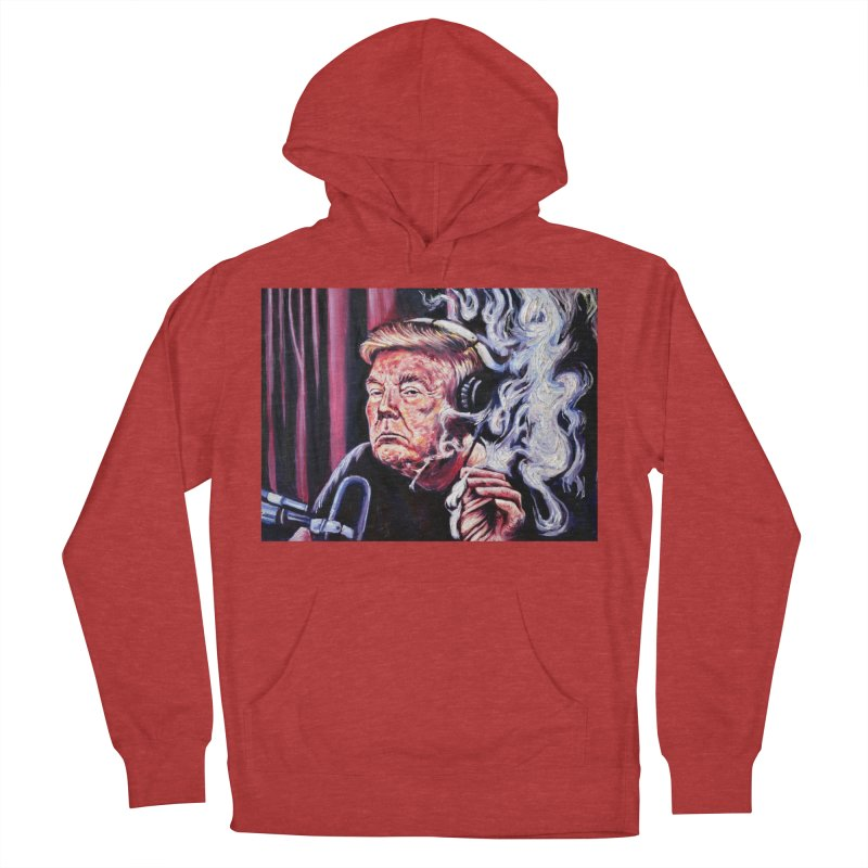 smoking donald Men's French Terry Pullover Hoody by paintings by Seamus Wray
