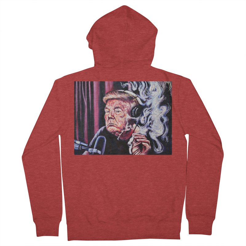smoking donald Women's French Terry Zip-Up Hoody by paintings by Seamus Wray