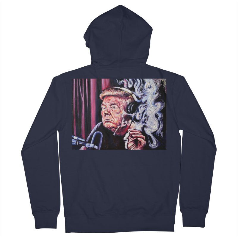 smoking donald Men's French Terry Zip-Up Hoody by paintings by Seamus Wray
