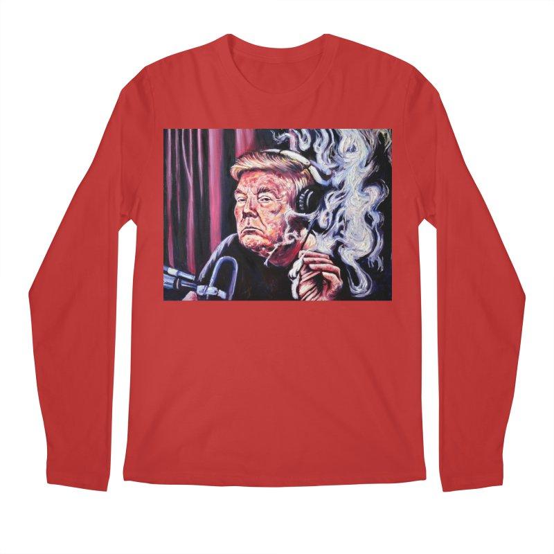 smoking donald Men's Regular Longsleeve T-Shirt by paintings by Seamus Wray