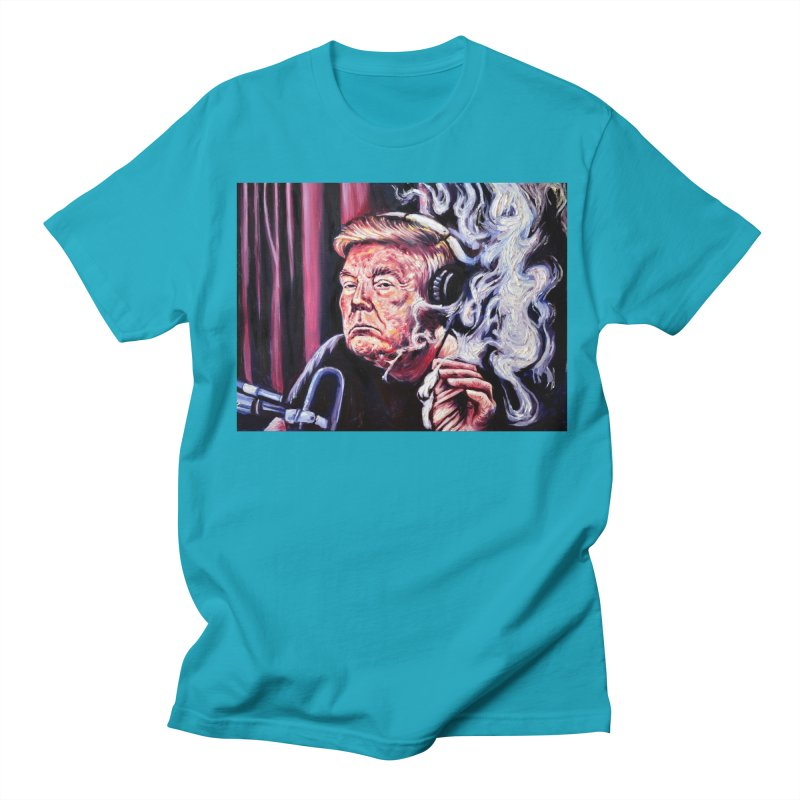smoking donald Men's Regular T-Shirt by paintings by Seamus Wray