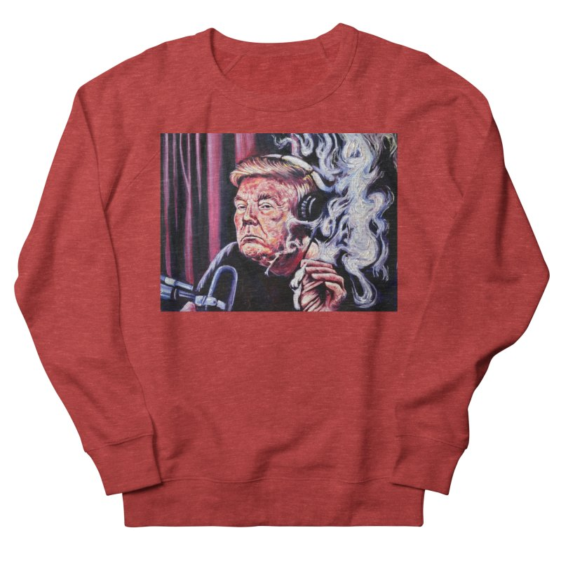 smoking donald Women's French Terry Sweatshirt by paintings by Seamus Wray