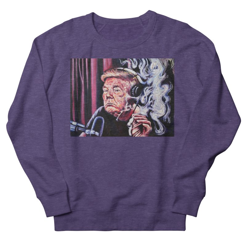 smoking donald Men's French Terry Sweatshirt by paintings by Seamus Wray