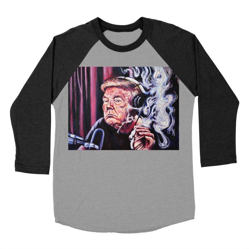 smoking donald Women's Baseball Triblend Longsleeve T-Shirt by paintings by Seamus Wray