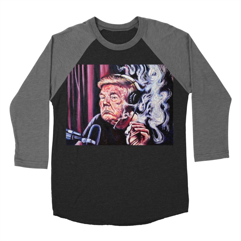 smoking donald Men's Baseball Triblend Longsleeve T-Shirt by paintings by Seamus Wray