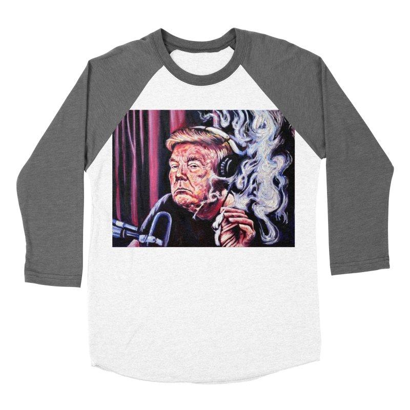 smoking donald Men's Baseball Triblend Longsleeve T-Shirt by paintings by Seamus Wray
