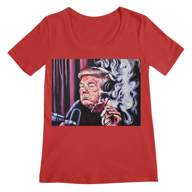 smoking donald Women's Regular Scoop Neck by paintings by Seamus Wray