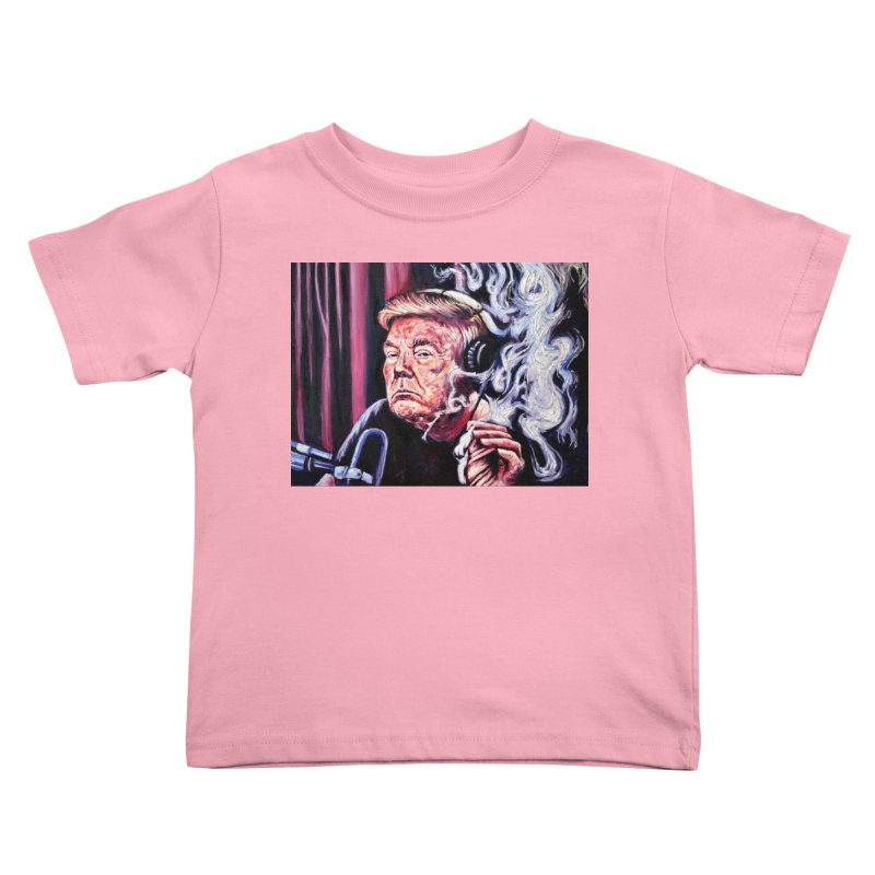 smoking donald Kids Toddler T-Shirt by paintings by Seamus Wray
