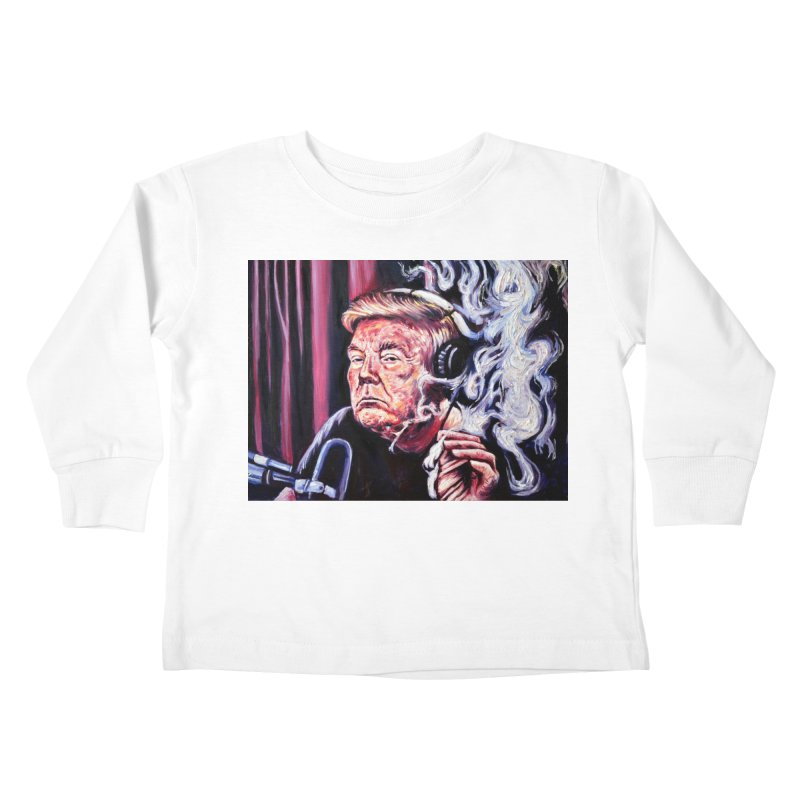 smoking donald Kids Toddler Longsleeve T-Shirt by paintings by Seamus Wray