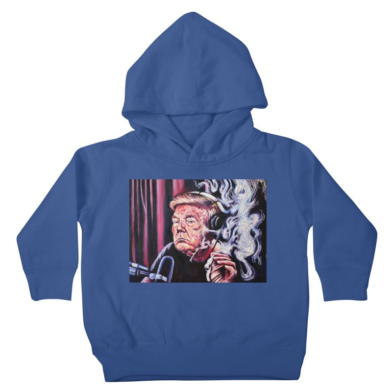 smoking donald Kids Toddler Pullover Hoody by paintings by Seamus Wray