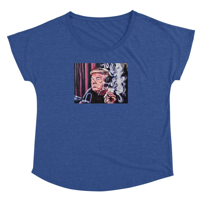 smoking donald Women's Dolman Scoop Neck by paintings by Seamus Wray