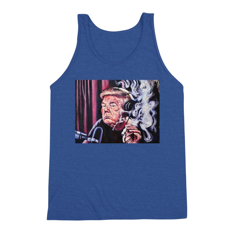 smoking donald Men's Triblend Tank by paintings by Seamus Wray