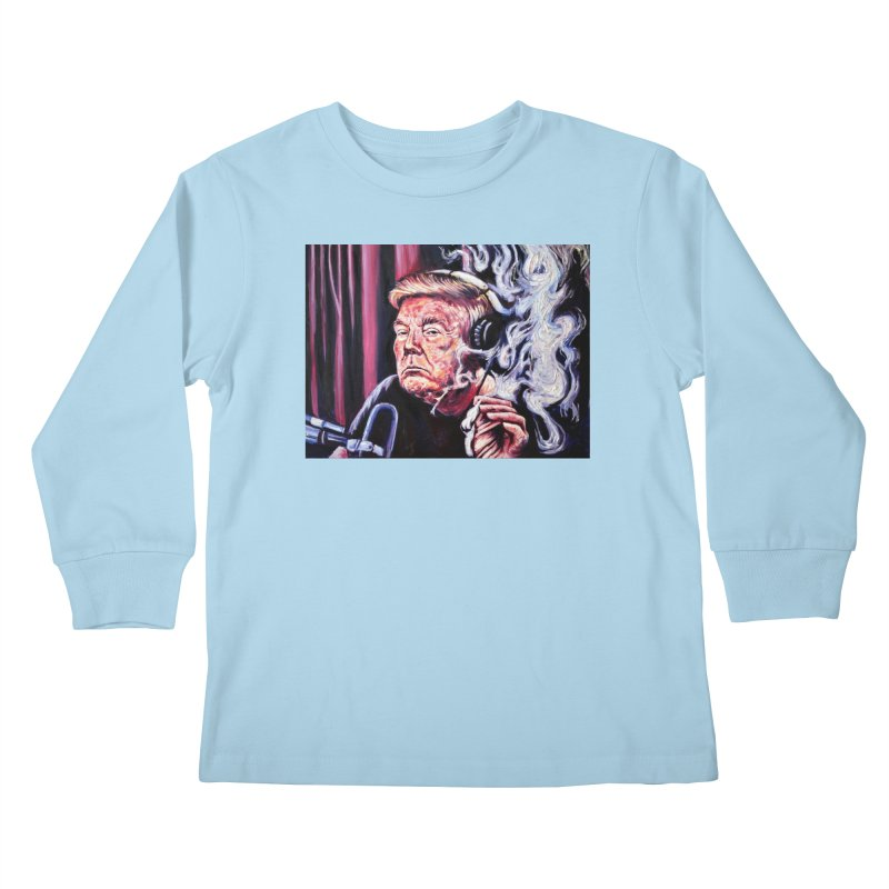 smoking donald Kids Longsleeve T-Shirt by paintings by Seamus Wray
