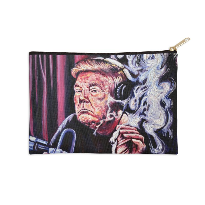 smoking donald Accessories Zip Pouch by paintings by Seamus Wray