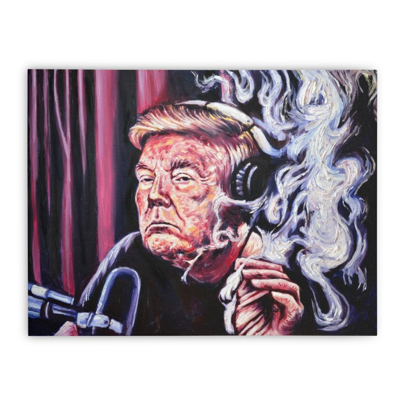 smoking donald Home Stretched Canvas by paintings by Seamus Wray
