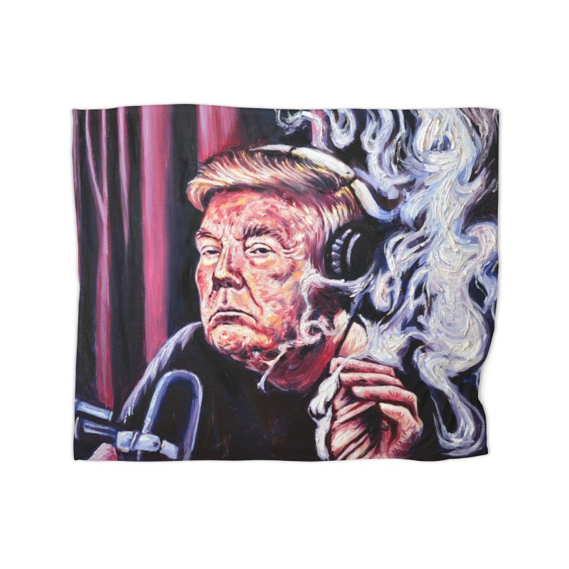 smoking donald Home Fleece Blanket Blanket by paintings by Seamus Wray