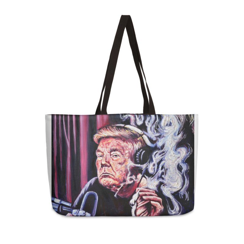 smoking donald Accessories Bag by paintings by Seamus Wray