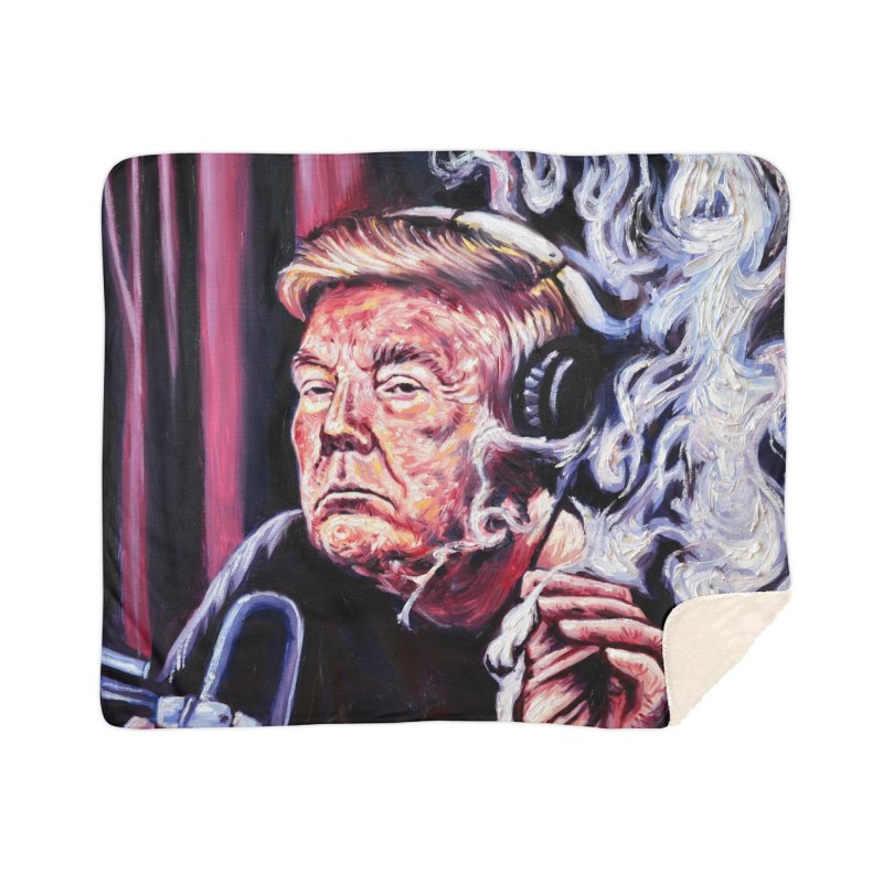smoking donald Home Sherpa Blanket Blanket by paintings by Seamus Wray