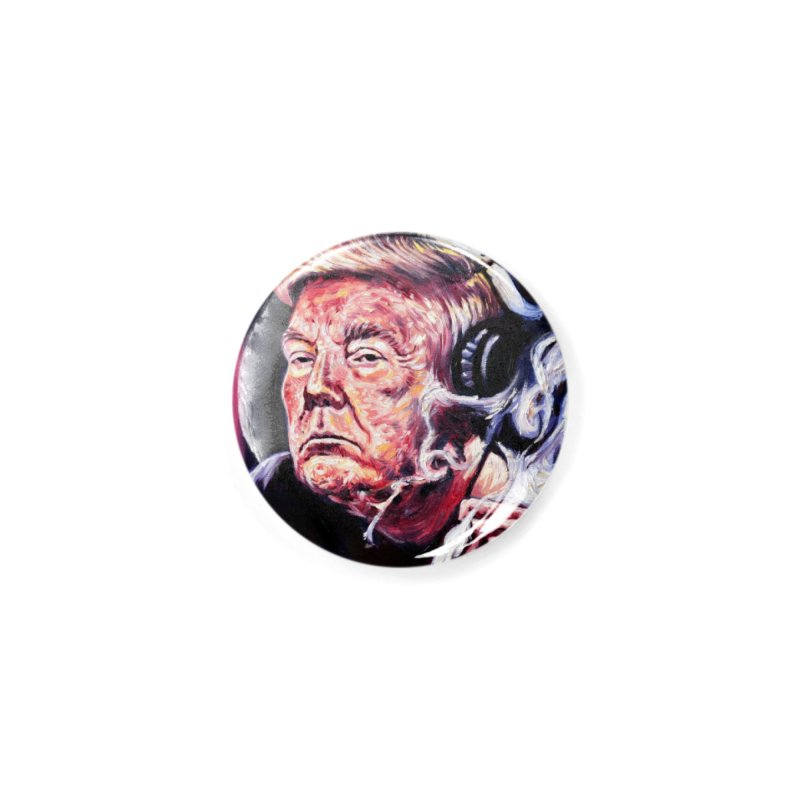 smoking donald Accessories Button by paintings by Seamus Wray