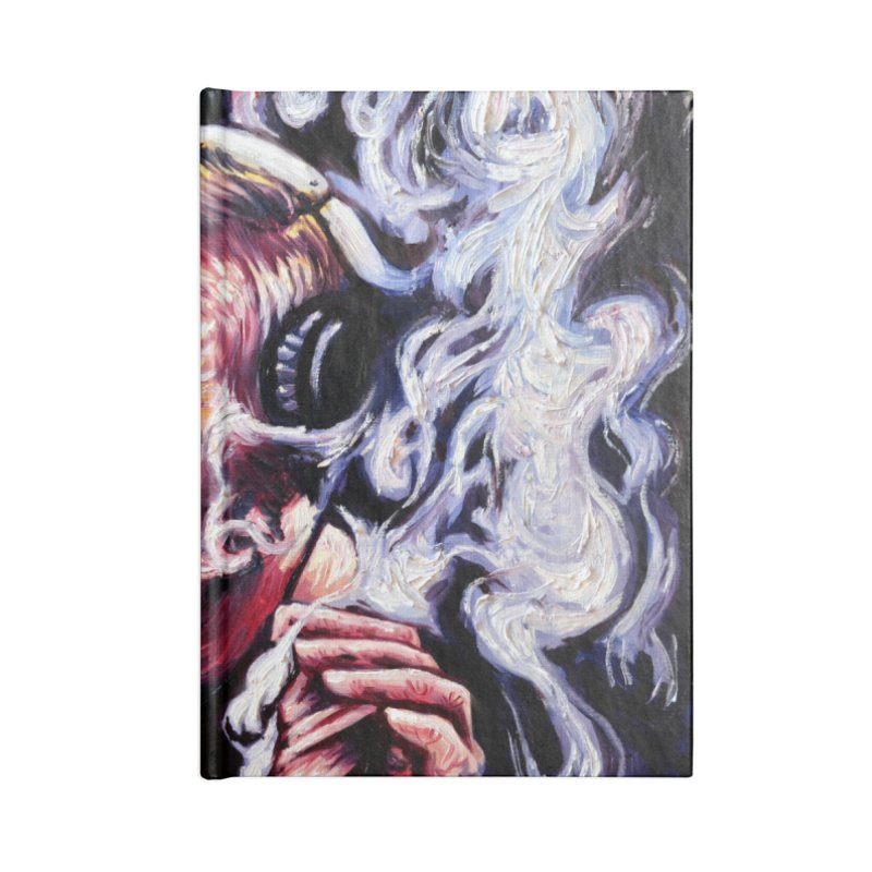 smoking donald Accessories Lined Journal Notebook by paintings by Seamus Wray