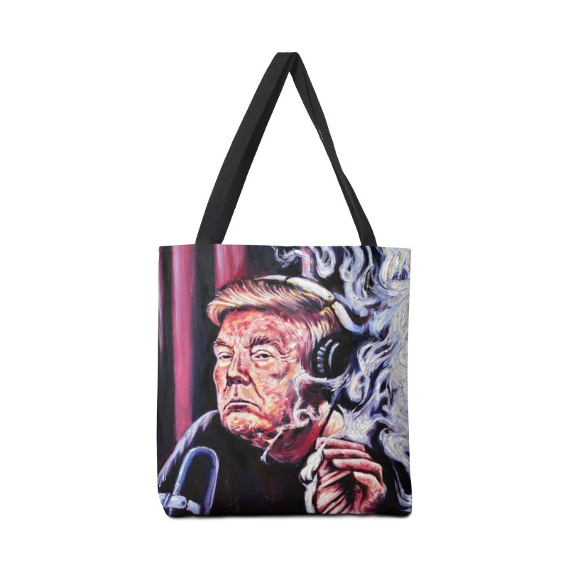 smoking donald Accessories Tote Bag Bag by paintings by Seamus Wray