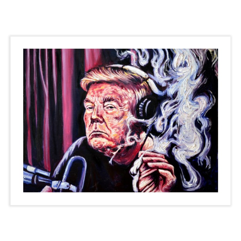 smoking donald Home Fine Art Print by paintings by Seamus Wray