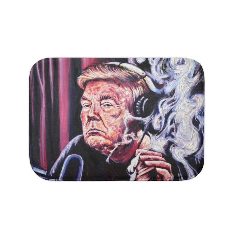 smoking donald Home Bath Mat by paintings by Seamus Wray